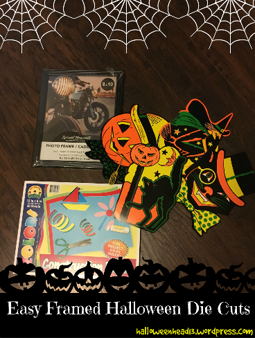halloween die cut craft