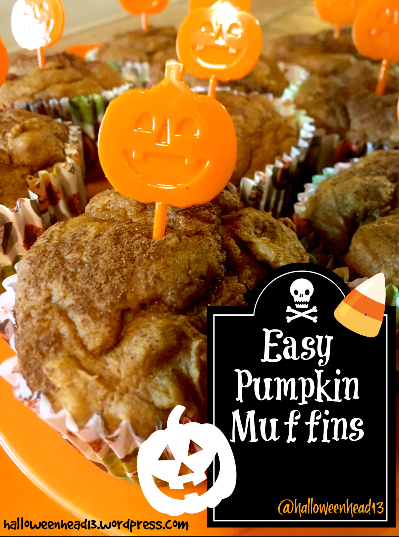 halloween head easy pumpkin muffin