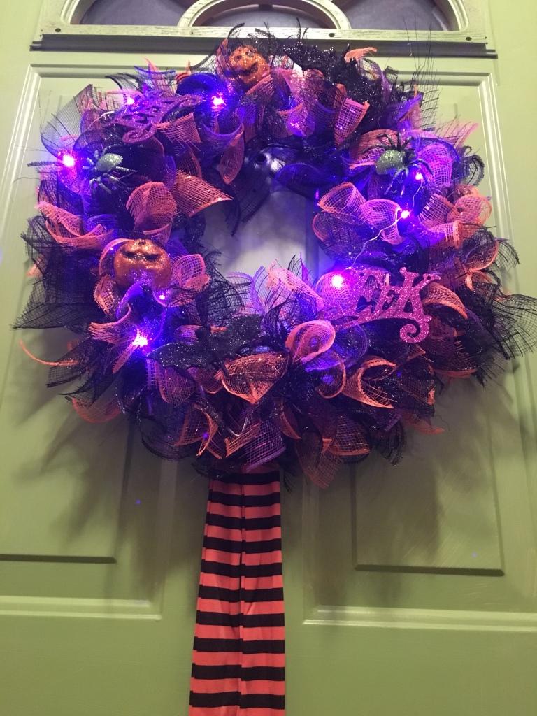DIY Mesh Dollar Tree Halloween Wreath – Halloween Head