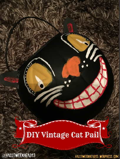 DIY vintage cat pail