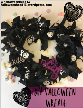 valloween wreath blog